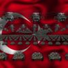 turkey army 3d animation video footage vj loop