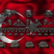 turkey army 3d animation video footage vj loop