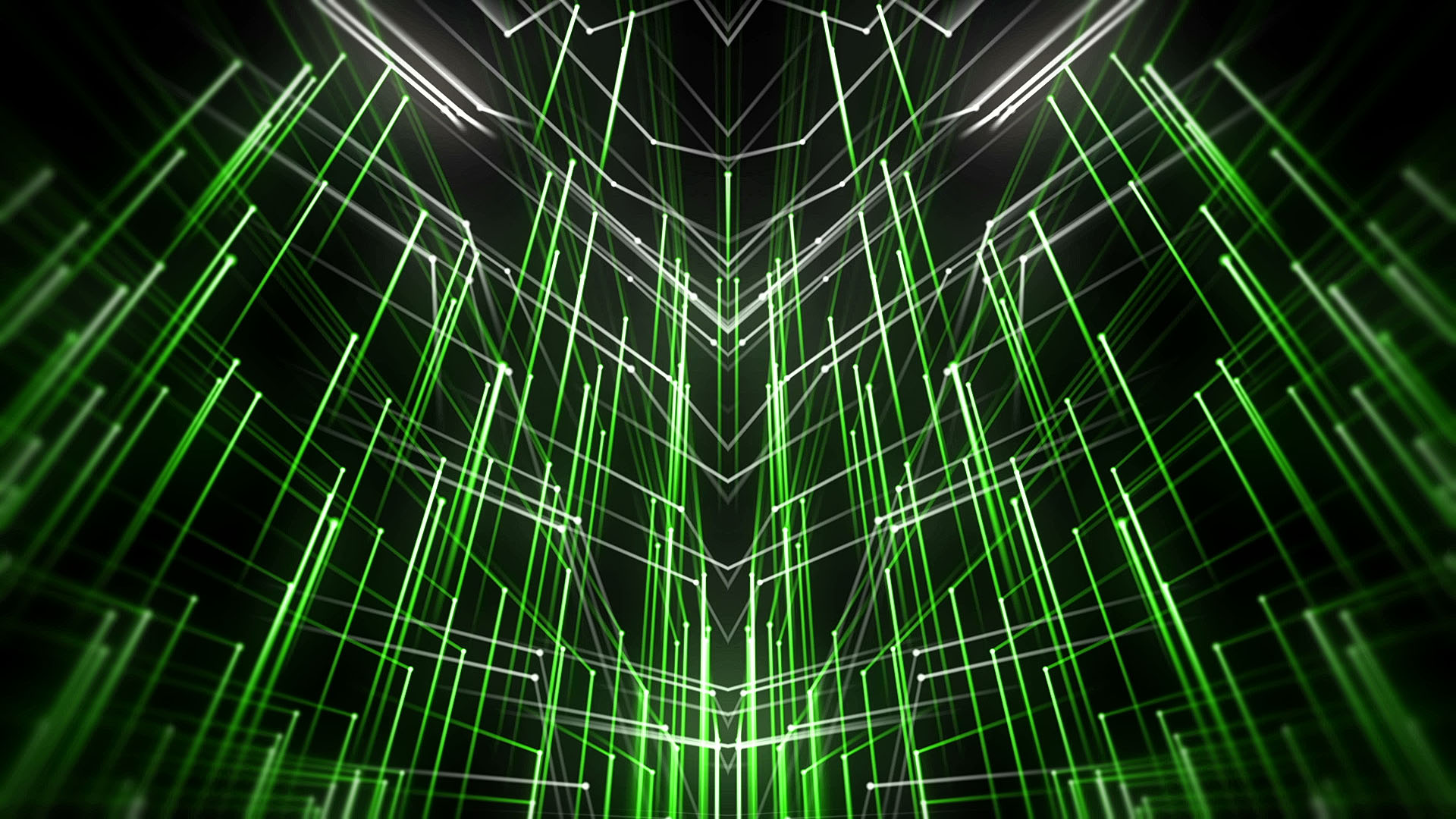 Green Abstract Animated Motion Background star needles_vj_loops_Layer