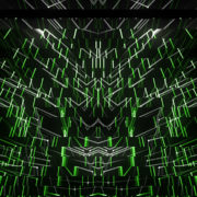 Green Abstract CGI motion graphics and animated background vj loops Layer