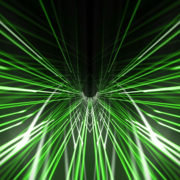 Green star needles 3d rendering of a grid formed tunnel vj_loops_Layer