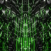 Green star needles Abstract CGI motion graphics and animated background_vj loops Layer