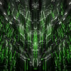 Green star needles Abstract CGI motion graphics and animated background_vj_loops_Layer