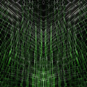 Green star needles motion graphics and animated background with 3D shapes_vj_loops_Layer