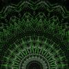 Green star rendering of a cogwheel formed tunnel needles_vj_loops_Layer
