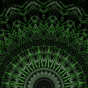 Green star rendering of a cogwheel formed tunnel needles_vj_loops_Layer