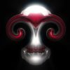 skull 3d motion background video