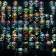 Head Skulls and animation scan. Loop-able black background visuals_vj_loops_Layer