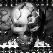 Highly detailed 3D skulls animated_visuals_vj_loops_Layer