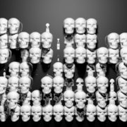 Looping pan over a line of shiny skulls. visuals_vj_loops_Layer