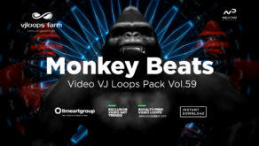 3D gorilla vj loop video art