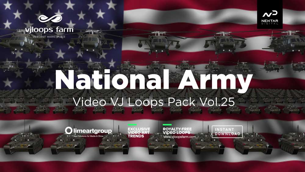 National-army-visuals-vj-loop-3d-footage