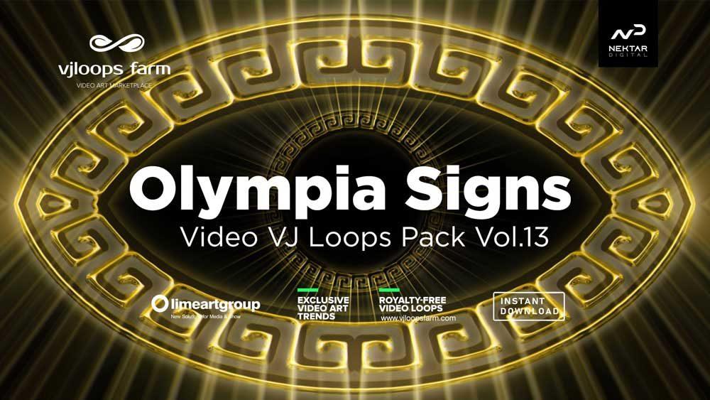 Olympia-Signs-Greece-VIdeo-Footage-Vj-loop
