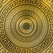 Olympia_Greece_Symbols_Ornament_Gold_Motion_Background_Video_VJ_Loop