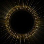 black sun Olympia_Greece_Symbols_Ornament_Gold_Motion_Background_Video_VJ_Loop