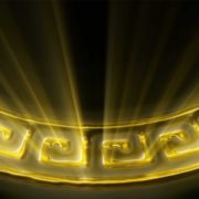 gold video art pattern motion background vj loop