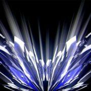 blue wave fire video art hd vj loop