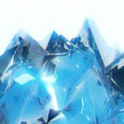 wave Polygonal_Ice_Fire_Wings_Video_Art_Vj_Loop