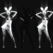 bunny go go dancing girl vj loop 4k