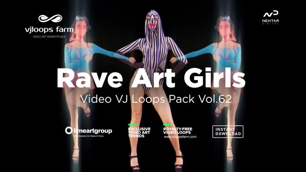 rave art girl marching