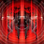 Red Evil Go Go Girl Demons stock footage Video art