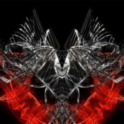 Red-and-silver-Neuro-Wallpaper-over-black-background
