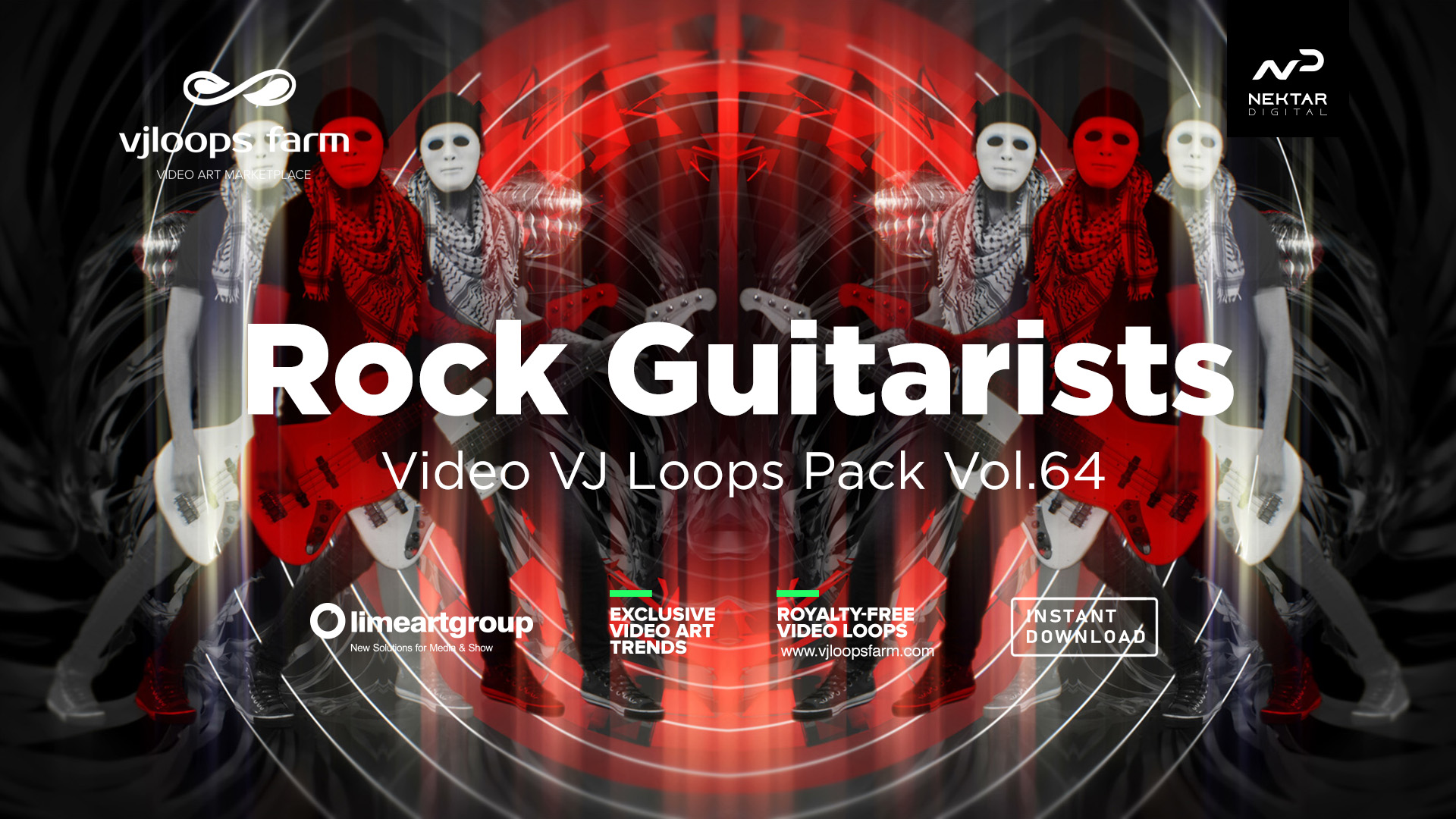 hard rock man guitarist video art vj loop