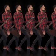 hard rock man guitarist video art vj loop
