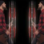 rock man guitarist video art motion background