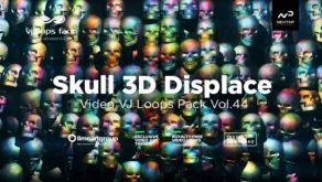 Skull-displace-3d-vj-loops