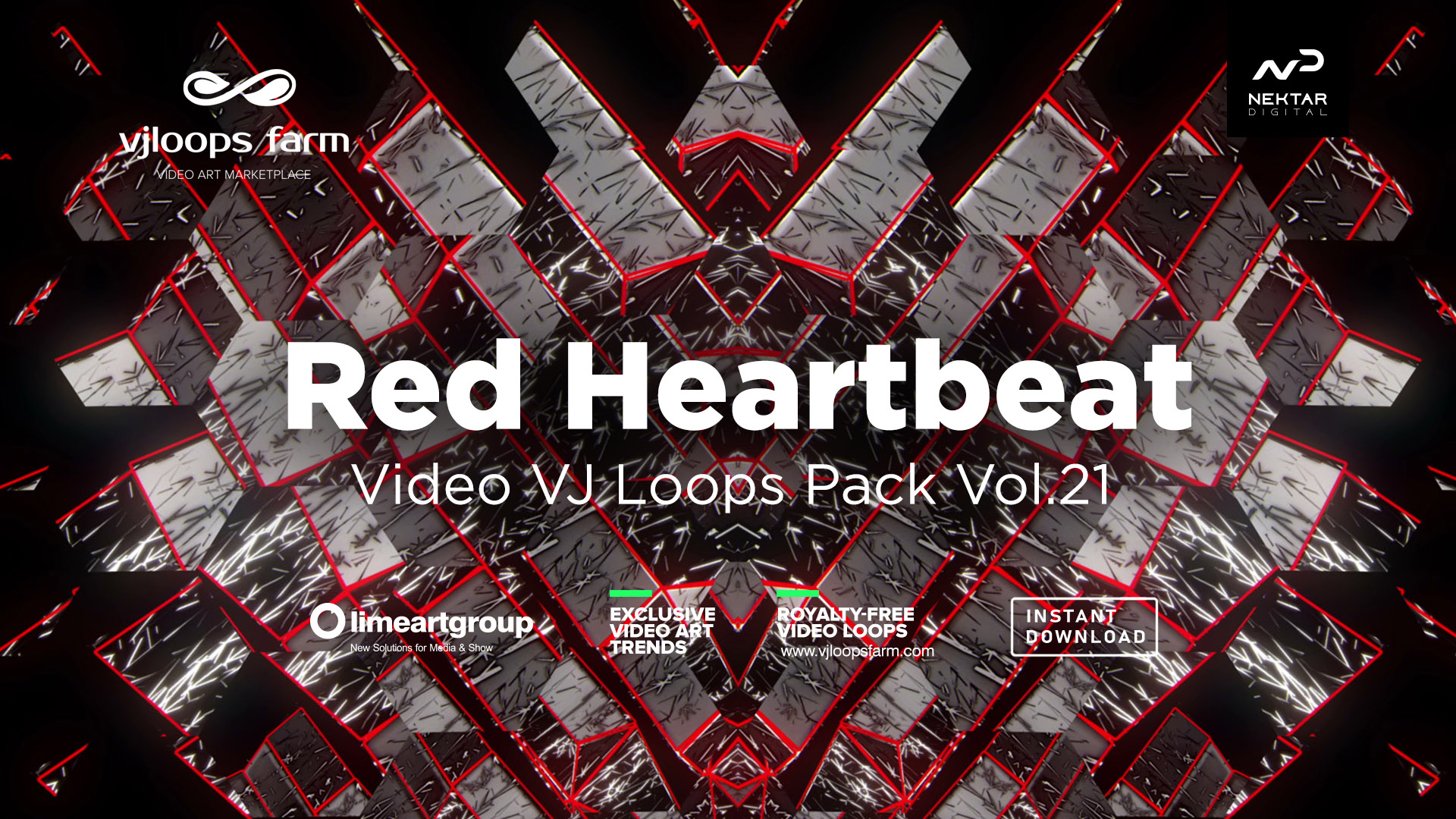 Strobe heartbeat red abstract vj loop wallpaper
