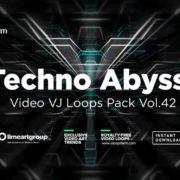 Techno visuals vj loops