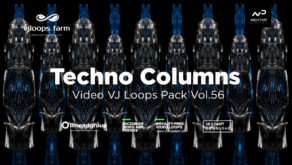 techno column wallpaper video art vj loop
