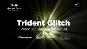 Trident-Glitch video loops