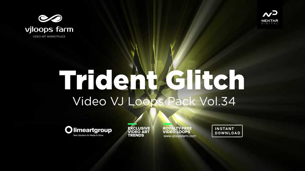 Trident-Glitch video loops