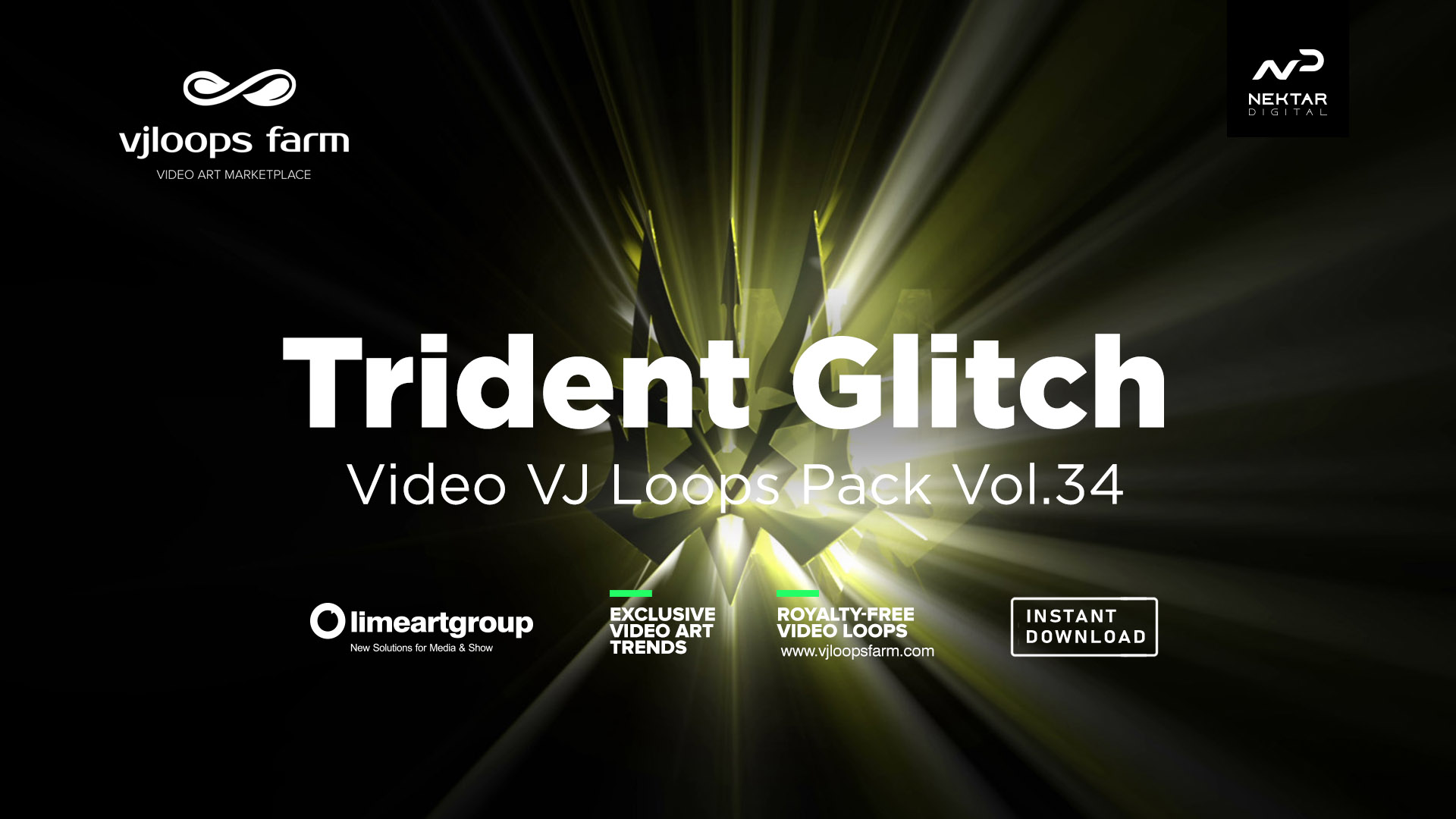 Glitch_Trident_VJ_Loops