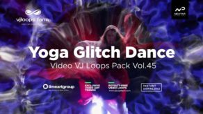 Yoga-Girl-VJ-loops-video-footage-glitch