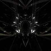 black abstract symmetrical RED poligon shape glass visuals vj loops Tunnel Layer