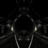 3D render seamless loop animation black glass visuals vj loops