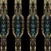 cobra skinned pillars erected on black background Wallpaper