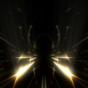 gilded 3d rendering of formed tunnel in the black background._vj_loops_Layer