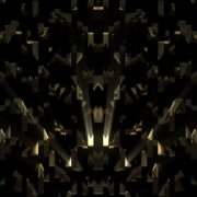 gold 3D abstract animation of geometric atomic shape vj_loops_Layer