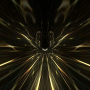 halcyon 3d rendering of a cogwheel formed tunnel in the black background._vj_loops_Layer