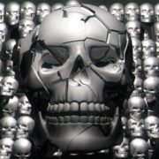 halloween Grunge skull JPG for education and presentation visualsvj loops Layer