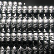 halloween Occult Ceremony with silver shiny Skulls visuals_vj_loops_Layer