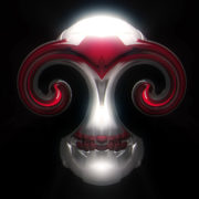 halloween Scary silver demon skull_visuals_vj_loops_Layer