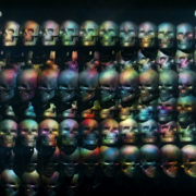 kaleidoscope Head Skull rotation and animation scan. Loop-able black background _vj_loops_Layer