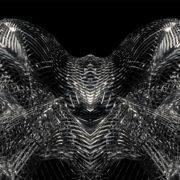 metamorphose of amorphous shape abstract animation 4k on black background Wallpaper