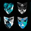 low poly face mask video vj loop