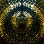 vj video background Gleaming-Golden-open-Eye-liquid-dimensional-light-effect-on-motion-background-Video-Art-VJ-Loop_003